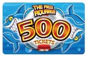 Prize Aquarium 500 Tkts Card